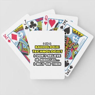 Miracles and Radiologic Technologists Funny Bicycle Poker Cards