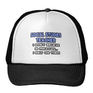 Miracles and Social Studies Teachers Mesh Hats