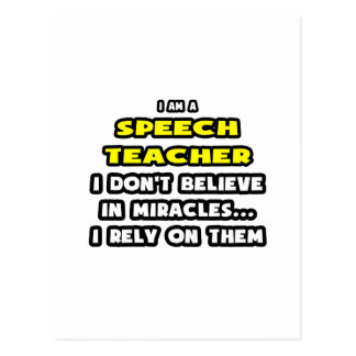 Miracles and Speech Teachers ... Funny Postcard