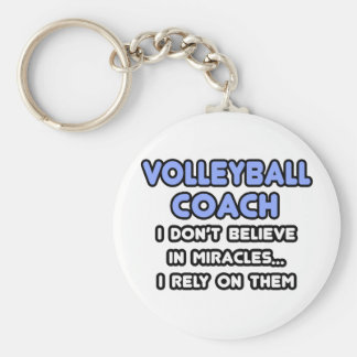 Miracles and Volleyball Coaches Basic Round Button Key Ring