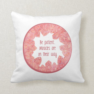Miracles are on their way Crystal Geode Throw Pill Cushion