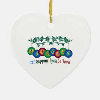 Miracles Can Happen Christmas Tree Ornaments