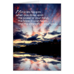 Miracles...Encouragement Card