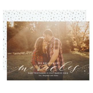 Miracles Faux Gold Foil Pregnancy Announcement