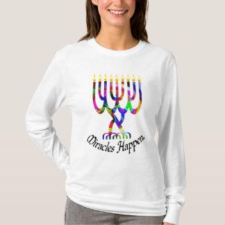 Miracles Happen Menorah Shirt