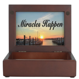 MIRACLES HAPPEN SUNSET PHOTO DESIGN KEEPSAKE BOXES