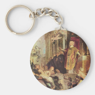 Miracles of St. Ignatius of Loyola by Paul Rubens Key Ring