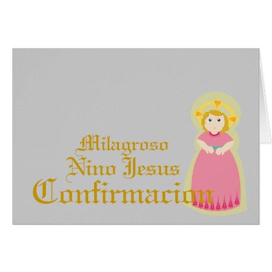 "Miraculous""Confirmacion""-Spanish-Customise Card"