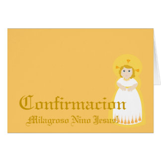 """Miraculous"""" Confirmacion""""-Spanish-Customize Greeting Card"""
