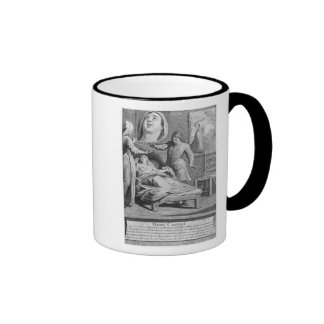 Miraculous healing of a blind woman coffee mugs