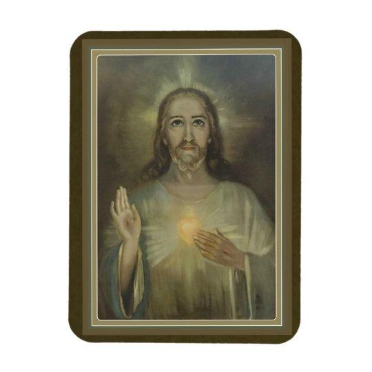 Miraculous Sacred Heart of Jesus Car/Refrigerator Rectangular Photo Magnet