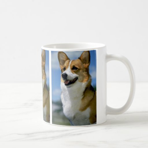 "Mirage,"""""""" Welsh Corgi Coffee Mugs"