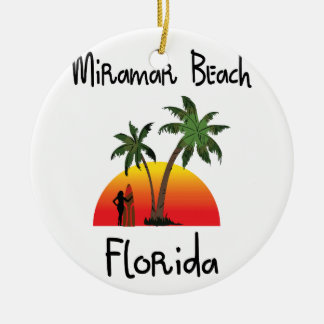 Miramar Beach Florida. Round Ceramic Decoration