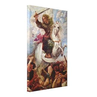Miranda Carreno de - Apostle victory over Moors Canvas Print