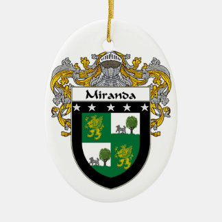 Miranda Coat of Arms/Family Crest Ceramic Oval Decoration