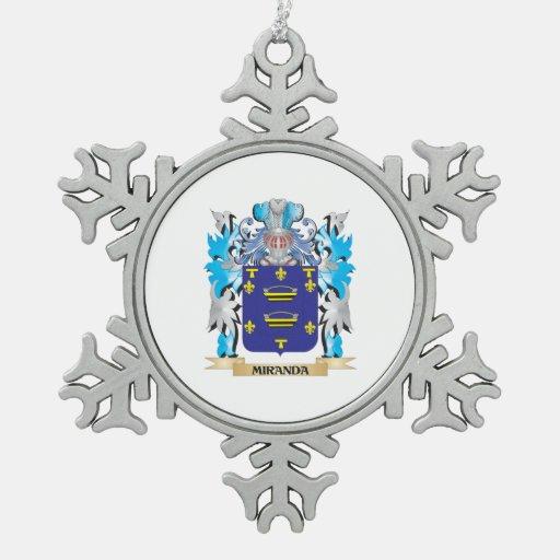 Miranda Coat of Arms - Family Crest Ornaments