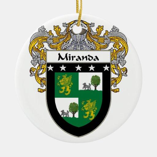 Miranda Coat of Arms/Family Crest Ornament