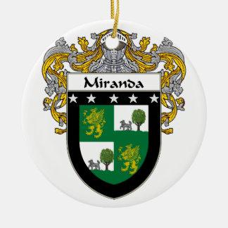 Miranda Coat of Arms/Family Crest Round Ceramic Decoration