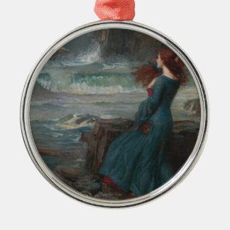 Miranda Silver-Colored Round Decoration