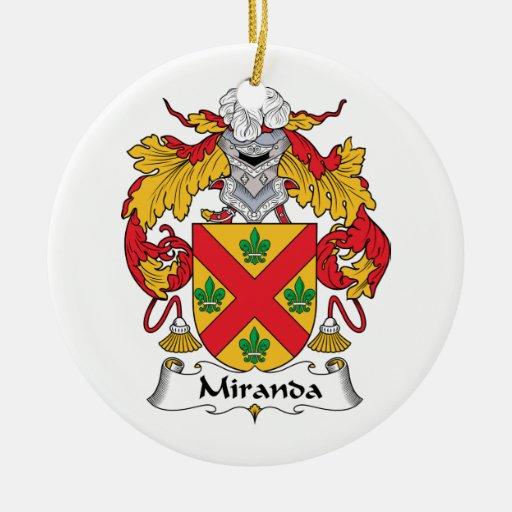 Miranda Family Crest Ornaments