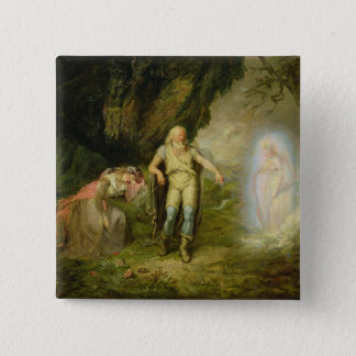 Miranda, Prospero and Ariel, from 'The Tempest' by 15 Cm Square Badge