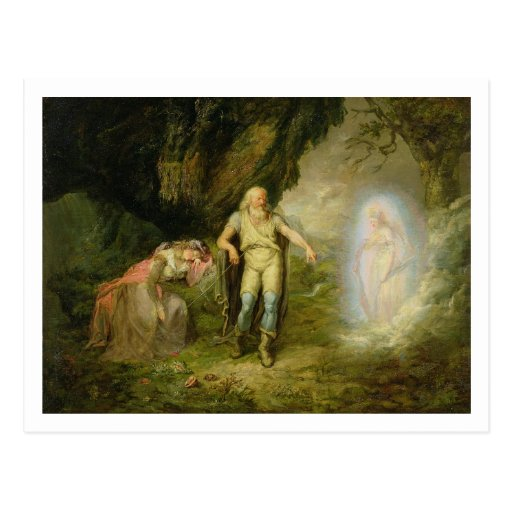 Miranda, Prospero and Ariel, from 'The Tempest' by Post Card