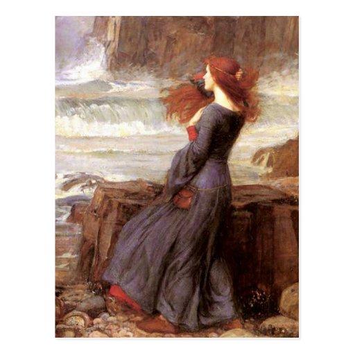 Miranda The Tempest by John William Waterhouse Post Card