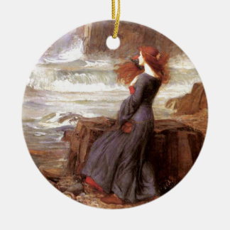 Miranda - The Tempest Double-Sided Ceramic Round Christmas Ornament