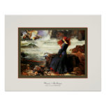 Miranda ~ The Tempest ~ John W. Waterhouse Posters
