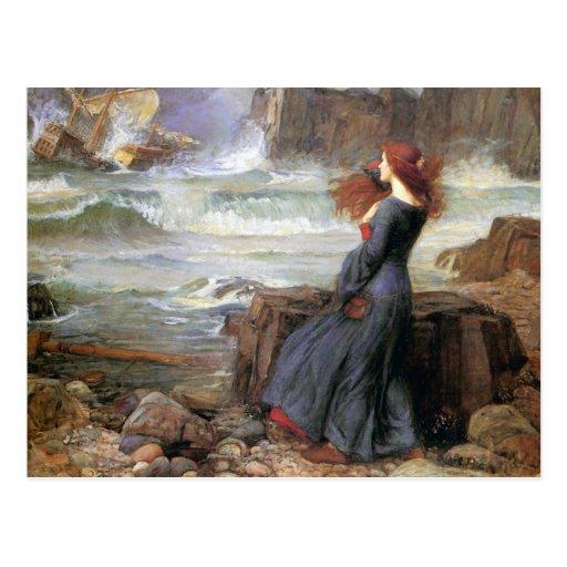 Miranda - The Tempest - John William Waterhouse Postcards