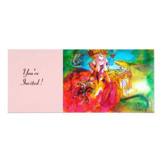MIRANDOLINA, bright pink blue yellow Custom Invitations