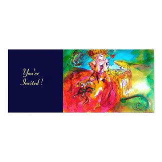 """MIRANDOLINA MARDI GRAS MASQUERADE PARTY 4"""" X 9.25"""" INVITATION CARD"""