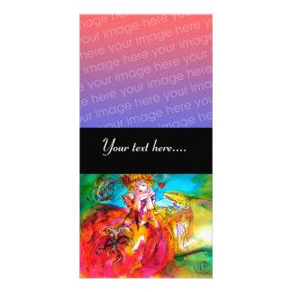 MIRANDOLINA ,Venetian Carnival Mask Photo Card