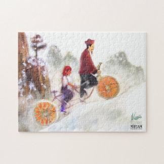 Miriam - tandem cycle with Liu Xiang Jigsaw Puzzle