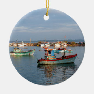Mirissa Sri Lanka Fishing boats Christmas Ornament