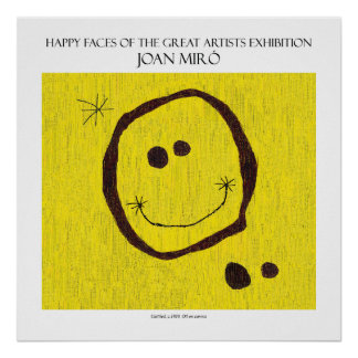 "miro happy face poster 11""x11"""