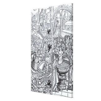 'Mirouer Historial de France' Canvas Print