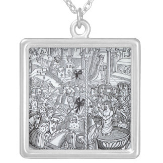 'Mirouer Historial de France' Silver Plated Necklace