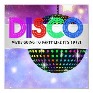 Mirror Ball Disco Party Invitations