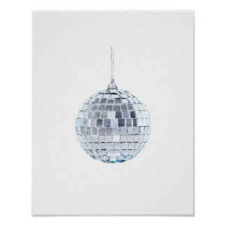Mirror Ball Ornament Poster