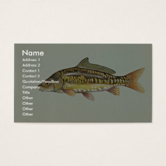 Mirror carp business card