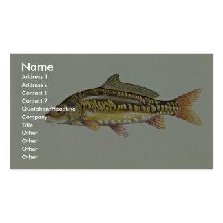 Mirror carp business card template