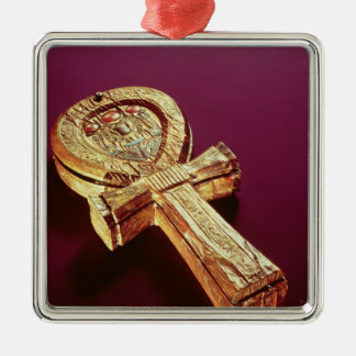 Mirror case in the form of an ankh 2 Silver-Colored square decoration
