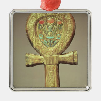Mirror case in the form of an ankh Silver-Colored square decoration