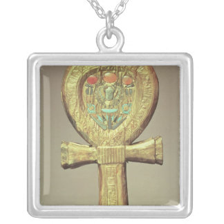 Mirror case in the form of an ankh silver plated necklace