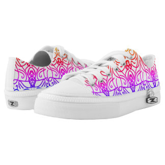 Mirror colors printed shoes