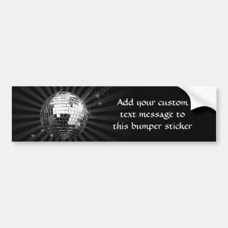Mirror Disco Ball on Black Bumper Sticker