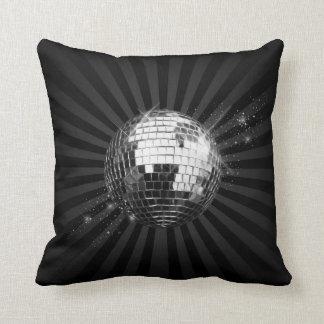 Mirror Disco Ball on Black Cushion