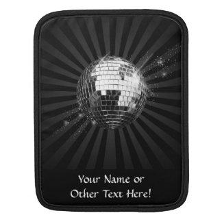 Mirror Disco Ball on Black iPad Sleeve