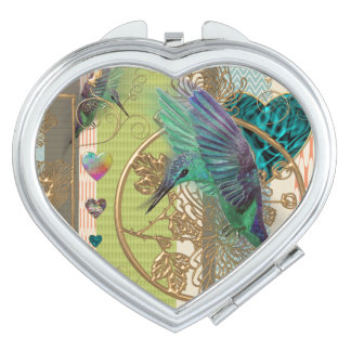"mirror heart ""hummingbird "" vanity mirrors"